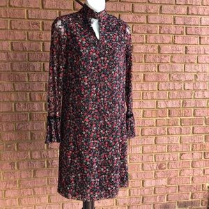 Libby Edelman Floral Long Sleeve Lace Dress
